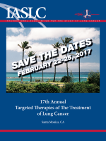 17TH ANNUAL TARGETED THERAPIES OF THE TREATMENT OF LUNG CANCER @ Santa Monica, CA, USA